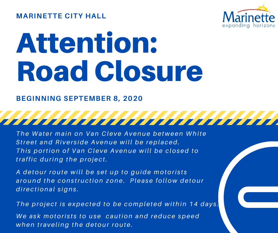 Attention Road Closure_ Van Cleve Avenue