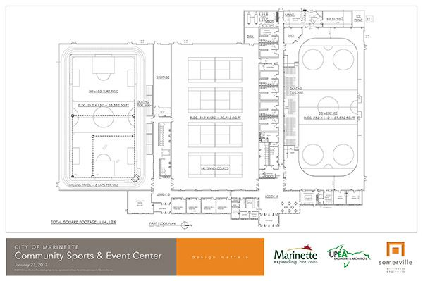 Sports and Events Center Blueprint