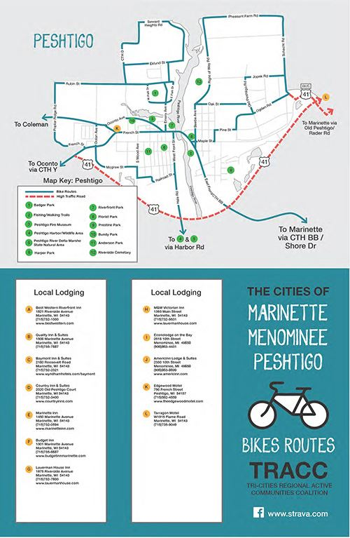 Tri-City Bike Map Peshtigo