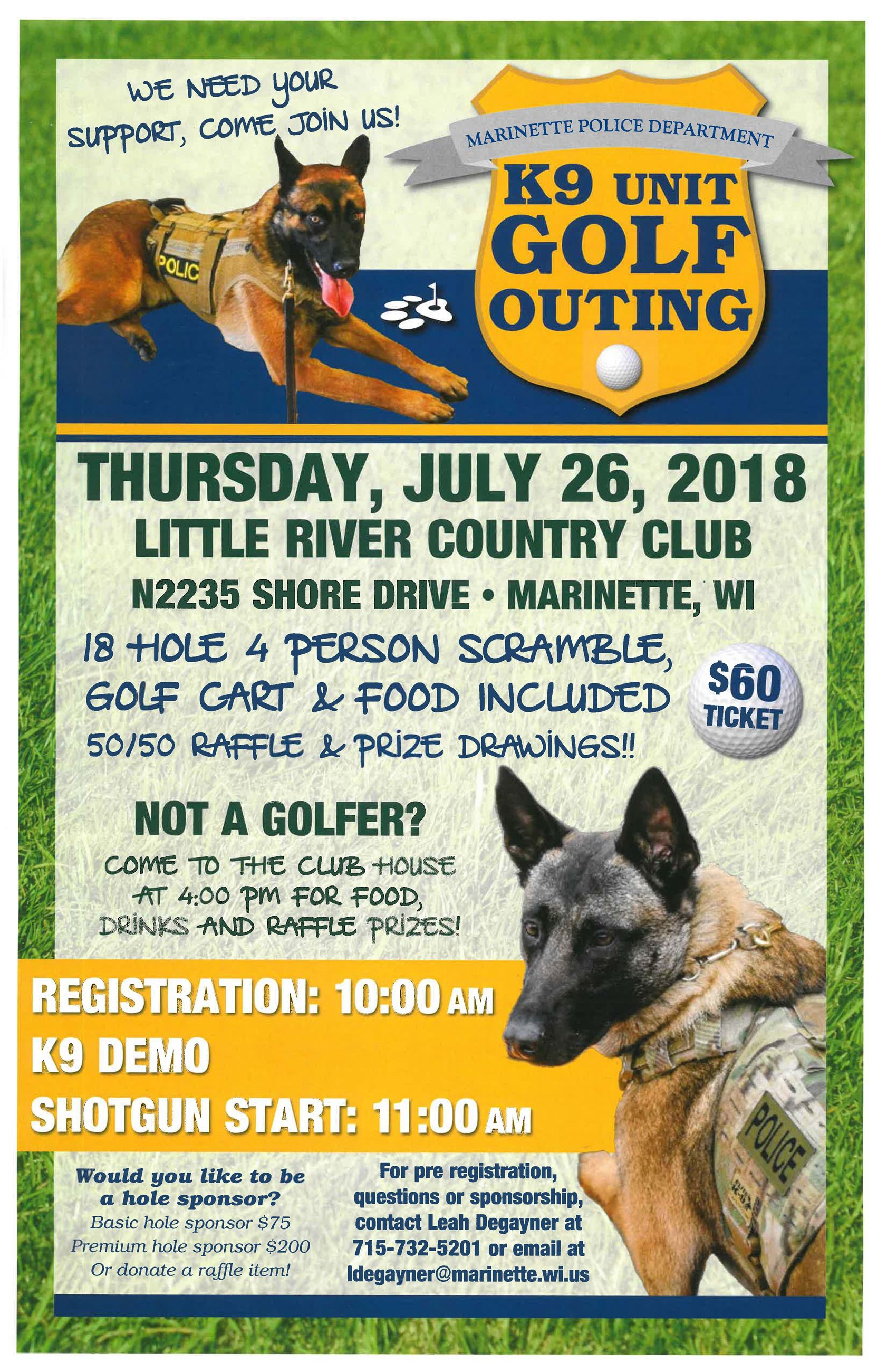 K9 Unit Golf Outing