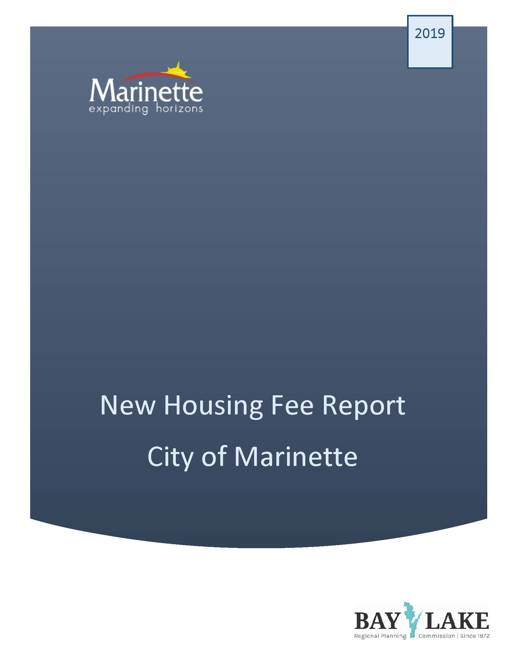 City of Marinette New Housing Fee Report_Page_1